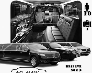 Stretch Limo airport shuttle in Columbus