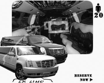 Cadillac Escalade 20 passenger SUV Limousine for rental in Columbus, OH