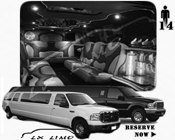 Lincoln Excursion SUV Limo for hire in Columbus, OH