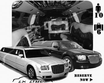 Chrysler 300 Limo in Columbus for wedding